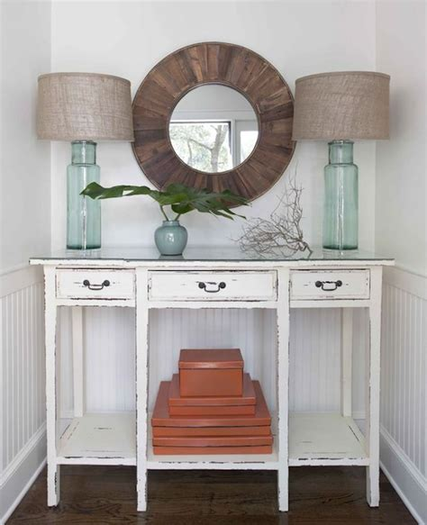 Distressed Entryway Table Distressed Console Table Cottage Entrance Foyer Erin Glennon Interiors