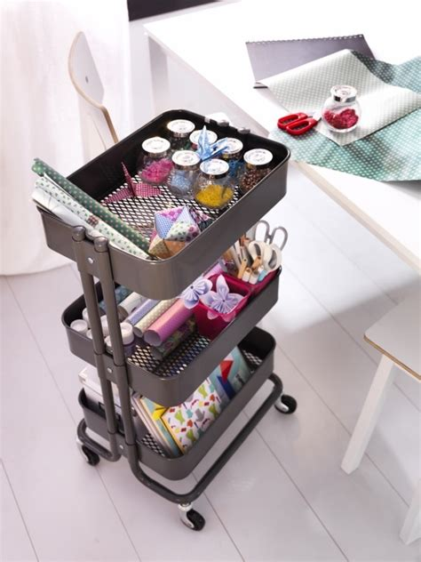 ikea cart with wheels the r 197 skog trolley is a great way to keep all your sewing