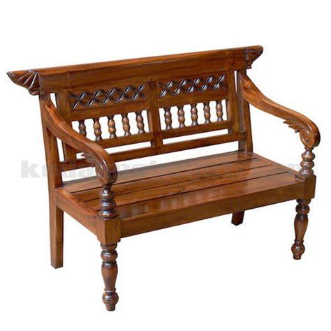 Bangku Laci Pandan Jati Tempat Duduk Mebel Jepara Furniture beli bangku jati model klasik ukiran kdb 015 harga murah
