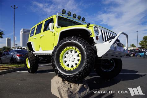 green jeep 2017 2017 sema jive jeep lime green jeep jk wrangler unlimited