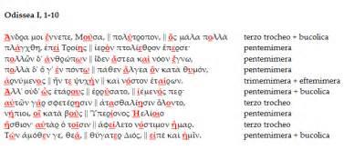 proemio odissea testo metrica greca l esametro