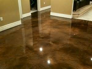 polished concrete as a possible kitchen floor or the