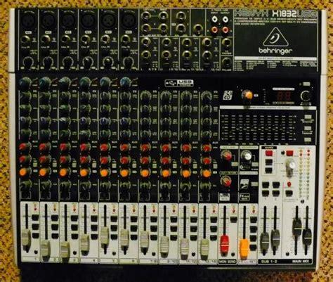 Mixer Alto S16 behringer xenyx x1832usb 14 channel usb mixer 3 aux sends 2 busses 3 band eq reverb