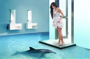 Floor Designer con estos pisos 3d puede tener delfines tiburones y hasta flores como