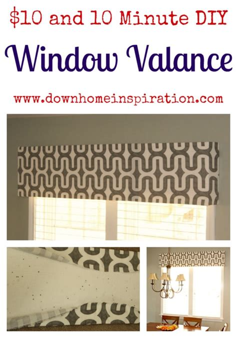 Diy Replacement Windows Inspiration 10 And 10 Minute Diy Window Valance Home Inspiration