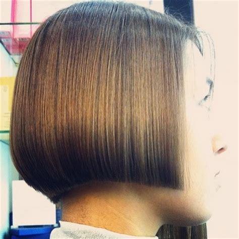 blunt a line bobs back view pin pop haircuts cute short hair cut styles many modern