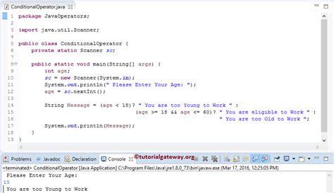java pattern or operator java ternary operator