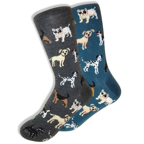 Dogs Series Socks mismatched westminster show socks for gray blue