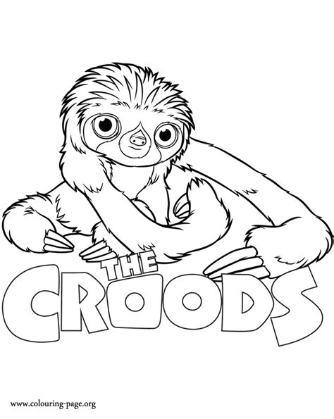 the croods belt coloring page