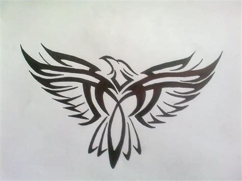 tattoo design eagle tribal eagle design by bogi90