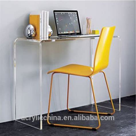 Acrylic Computer Desk Modern Design Cheap Acrylic Desk Clear Perspex Lucite U Shaped Computer Writing Cheap Acrylic
