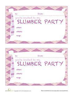 slumber party invitation templates oxsvitation com