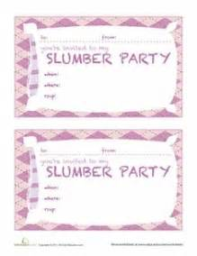 sleepover invitations free printable sleepover slumber