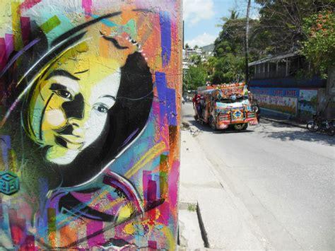 stencil street artist  explores haiti  full color