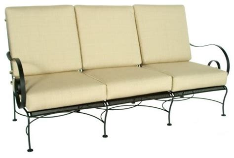 wrought iron outdoor sofa o w lee avalon wrought iron sofa traditional outdoor