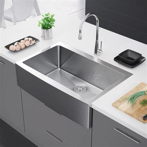 Best Farm Sink by Exclusive Heritage 33 X 22 Single Bowl Stainless Steel