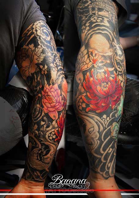 tatuaggi fiori giapponesi tatuaggi giapponesi al banana studio di vitorchiano