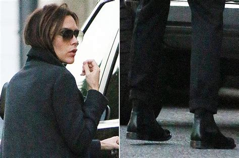 beckham flat shoes beckham wears flat shoes for shopping trip with