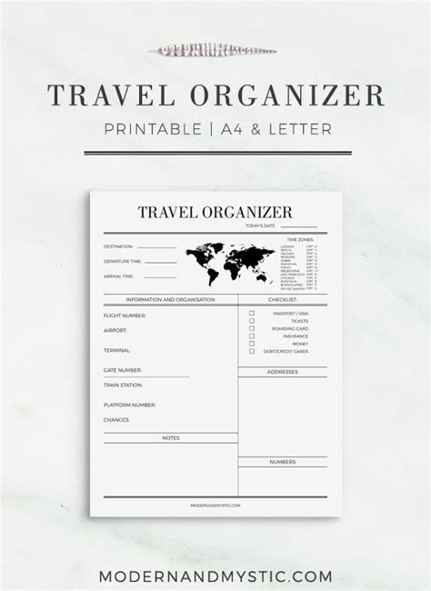 printable journey planner travel organizer printable journey planner travel planner trip