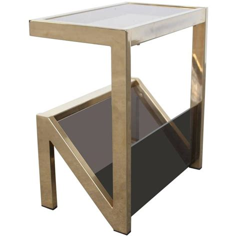Gold Table L 23 Karat Gold Plated Side Table With Lecture Holder Maison Jansen Attributed At 1stdibs