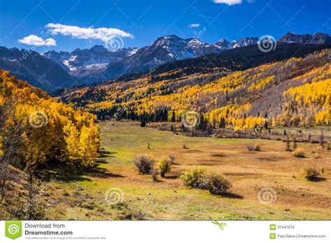 colorado rockies colors autumn colors in the colorado rockies stock photography
