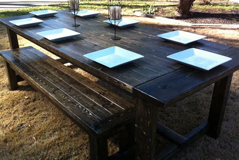 farm table benches ana white my farmhouse table and bench diy projects