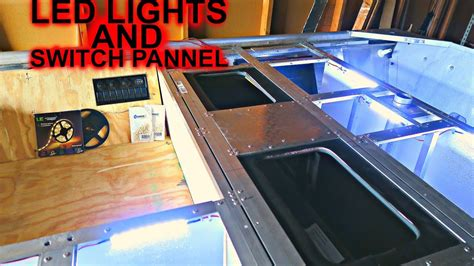 jon boat electrical panel led lights and switch panel jon boat to bass boat youtube