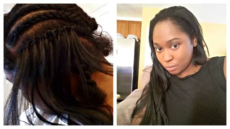 kanekalon hair realistic weave with crochet braids using kanekalon hair