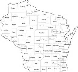 wisconsin county map with county names