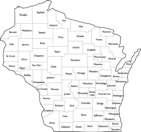 wisconsin counties map wisconsin county map with county names