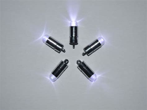 led lights battery operated 5 x white single led battery powered lights waterproof