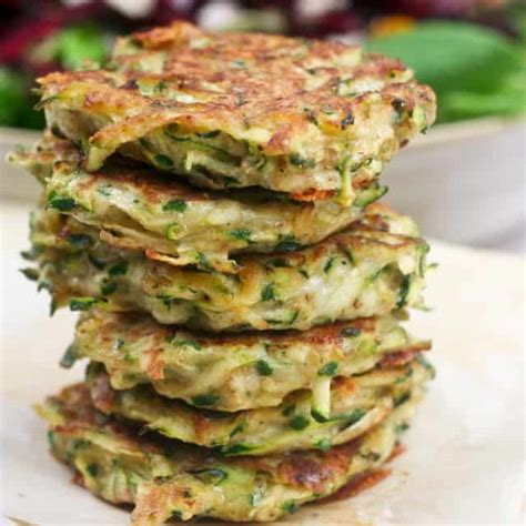 zucchini carbohydrates 100g zucchini fritters