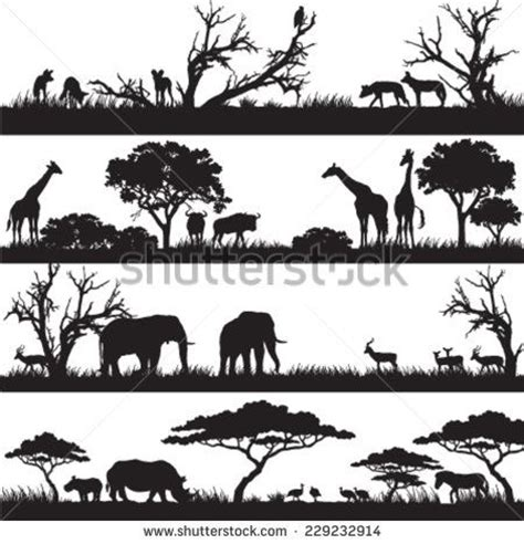 printable jungle animal silhouettes 1000 ideas about animal silhouette on pinterest
