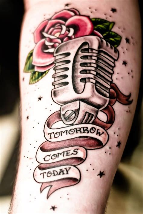 microphone tattoo thumb traditional search and google on pinterest