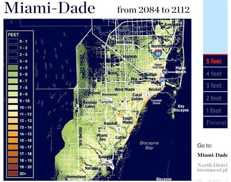 sea level rise florida map maps how sea level rise could impact miami dade county wlrn