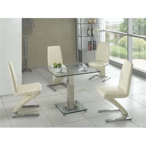 square glass dining table 4 x d216 chairs