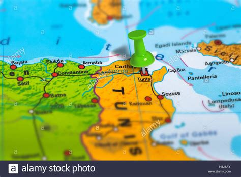 tunisia on map tunis tunisia map stock photo royalty free image