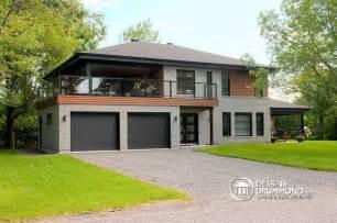 Bi Level Floor Plans With Attached Garage by D 233 Tail Du Plan De Maison Multi Logements W3046