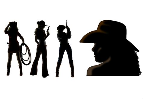 cowboy and cowgirl silhouette cowgirl free vector art 596 free downloads