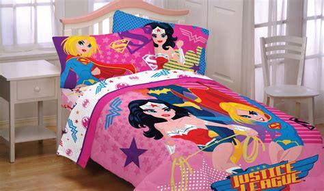 superhero full size bedding dc comics justice league girl twin comforter wonder
