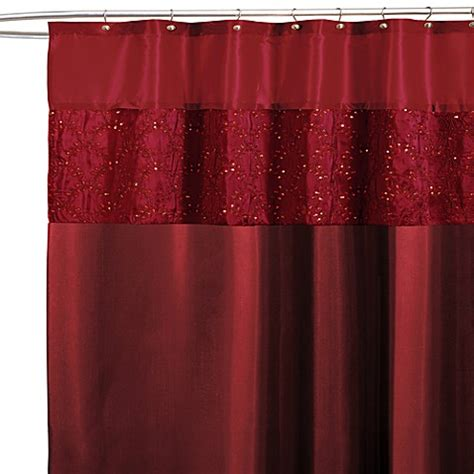 red bathroom shower curtains buy maria red 72 inch x 72 inch shower curtain from bed