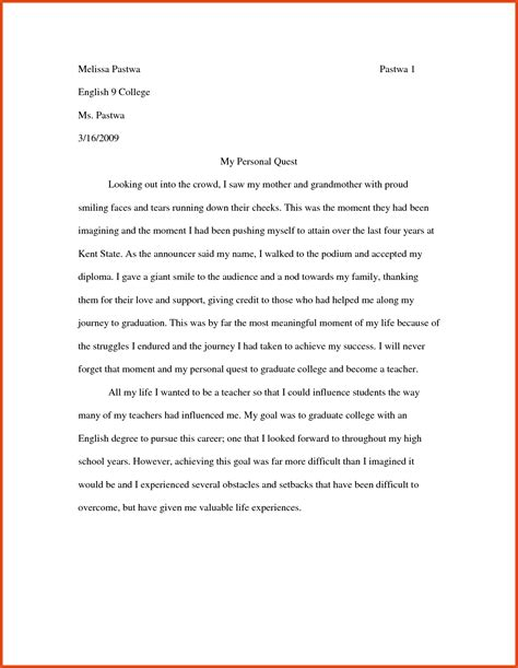 College Essay Question Exles by Essays Exles Moa Format