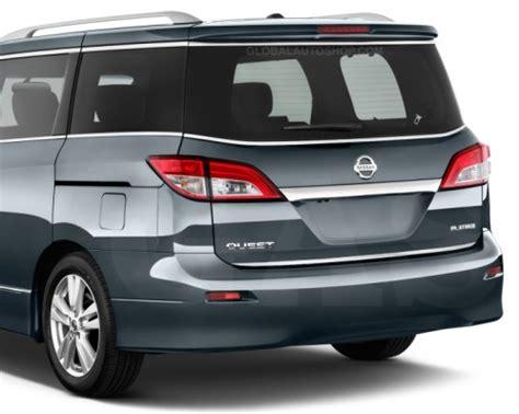 nissan quest rear nissan quest rear chrome trunk lid trim rear chrome trim