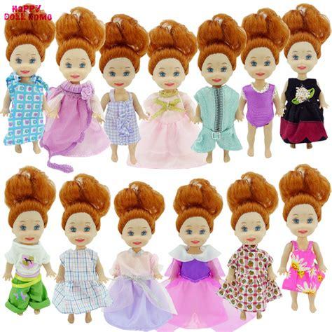 10x Kid Mini Dress Dolls Fashion Clothes Mixed Style For Pa random 10x mini mixed style fashion casual wear