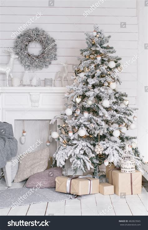 new year decorations at home beautiful tree at home new year interior