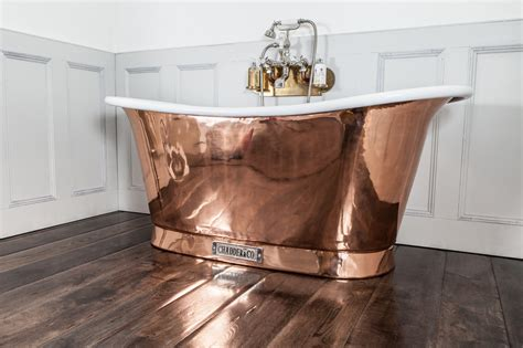 Shower Screen For Roll Top Bath royal copper bath with white interior chadder amp co