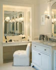 Bathroom Makeup Vanities Built In Makeup Vanity Traditional Bathroom Jan Gleysteen Architects