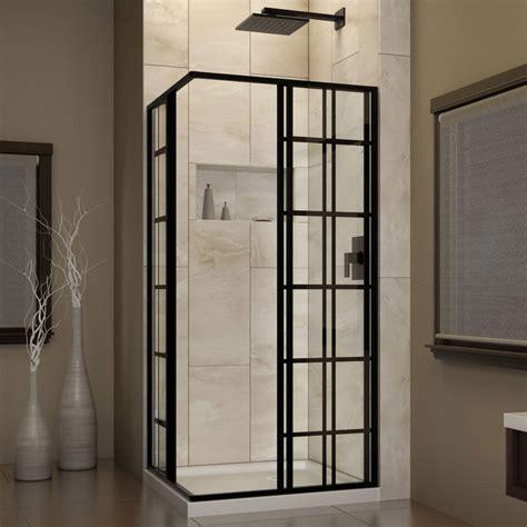 Kitchen Delta Faucets dreamline shen 8134340 89 french corner satin black shower