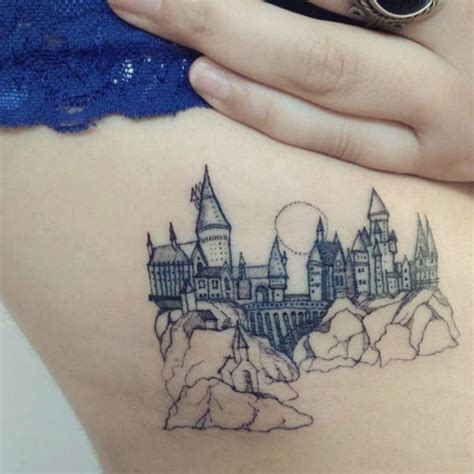 hogwarts castle tattoo i this but what if i got the prague castle instead
