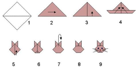 How To Make A Origami Rabbit - easy learn make origami 171 embroidery origami